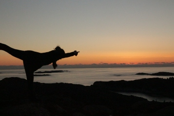 Grutle rett etter solnedgang