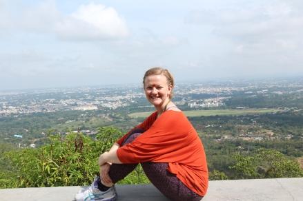 Ut på tur, her med utsikt over Mysore